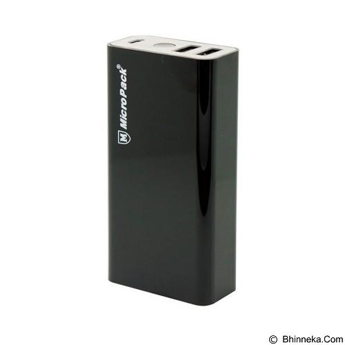 MICROPACK Powerbank 6000mAh [P60-2] - Black - Portable Charger / Power Bank