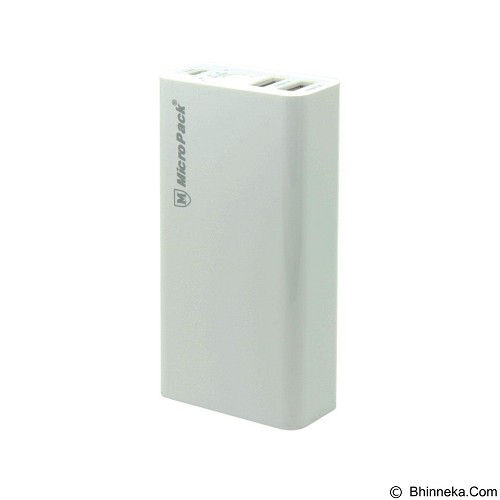 MICROPACK Power Bank 6000mAh 2 Port [P60-2] - White (Merchant) - Portable Charger / Power Bank