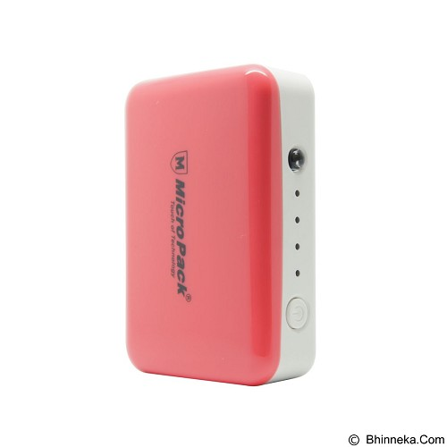 MICROPACK Power Bank 6000mAh [P610PS] - Pink (Merchant) - Portable Charger / Power Bank