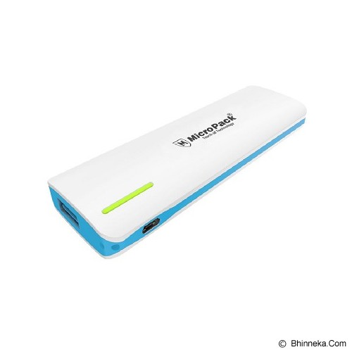 MICROPACK Powerbank 5000mAh [P520PS] - White Blue - Portable Charger / Power Bank