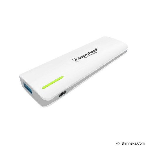 MICROPACK Powerbank 5000mAh [P520PS] - White Grey - Portable Charger / Power Bank