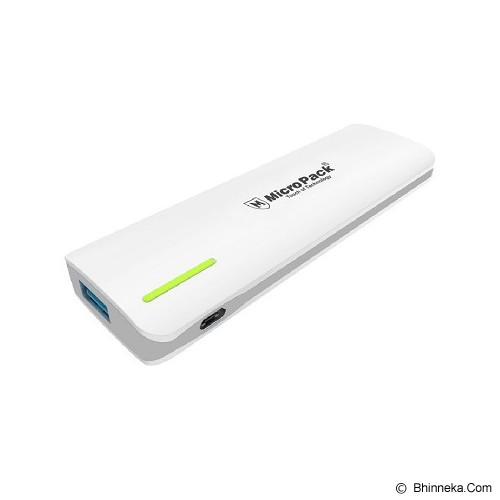 MICROPACK Powerbank 5000mAh [P520PS] - White Grey - Portable Charger / Power Bank