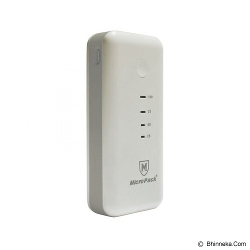 MICROPACK Powerbank 5200mAh [P5200] - White Grey - Portable Charger / Power Bank