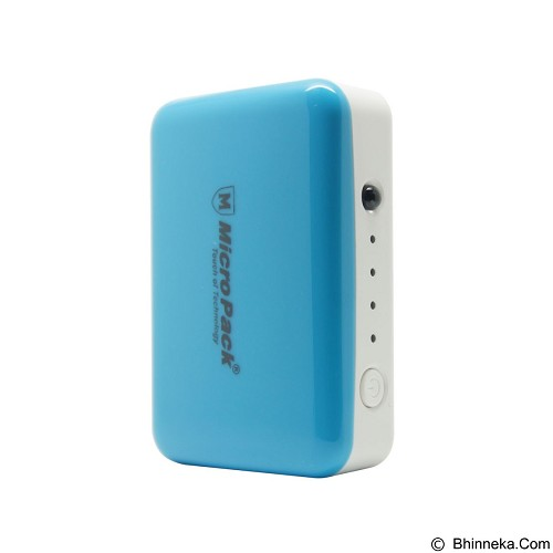 MICROPACK Powerbank Li-Ion Small 6000mAh - Blue (Merchant) - Portable Charger / Power Bank