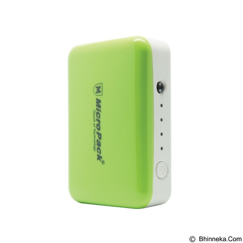 MICROPACK Powerbank Li-Ion Small 6000mAh - Green (Merchant) - Portable Charger / Power Bank
