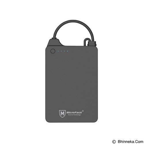 MICROPACK Powerbank Li-Polymer 4000imAh - Black (Merchant) - Portable Charger / Power Bank