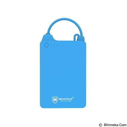MICROPACK Powerbank Li-Polymer 4000imAh - Blue (Merchant) - Portable Charger / Power Bank