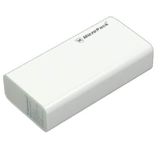 MICROPACK Powerbank 6000mAh [P60-2] – White - Portable Charger / Power Bank