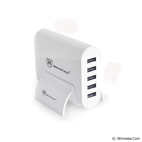 MICROPACK USB HUB Charger 5 Port 10A [MUC-5SI] - White - Universal Charger Kit