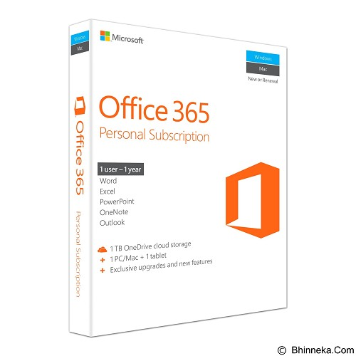 MICROSOFT Office 365 Personal [QQ2-00036][QQ2-00570] - Client Software Office Application FPP