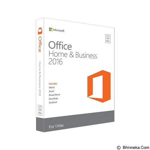 MICROSOFT Office Home & Business 2016 for Mac [W6F-00476] (Merchant) - Client Software Office Application Fpp