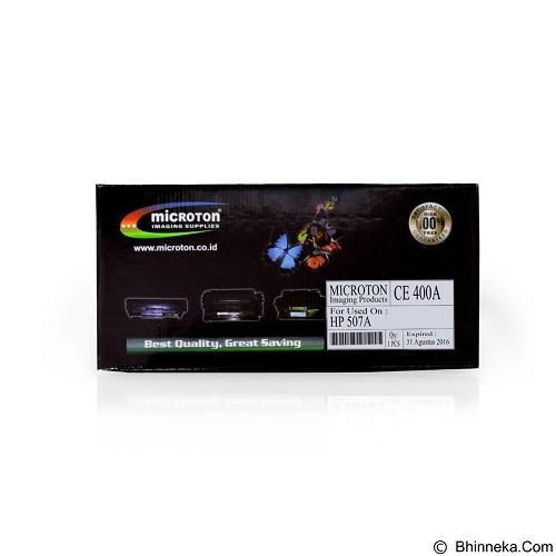 MICROTON Toner Compatible HP 507A [CE400A] - Toner Printer Refill