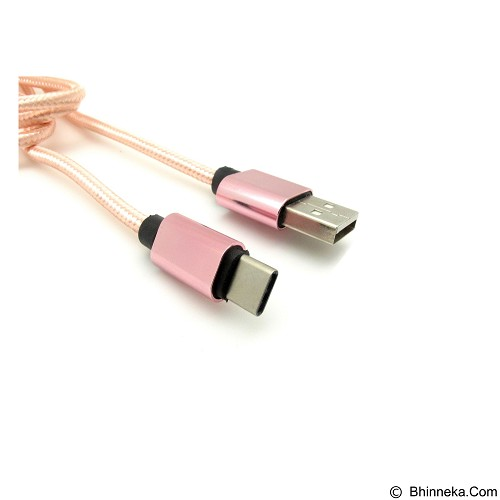 MIIBOX Charge & Sync Cable Type C for Smartphone - Pink (Merchant) - Cable / Connector Usb