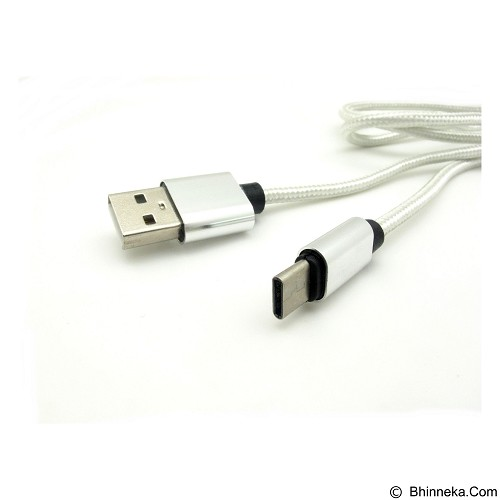 MIIBOX Charge & Sync Cable Type C for Smartphone - Silver (Merchant) - Cable / Connector Usb
