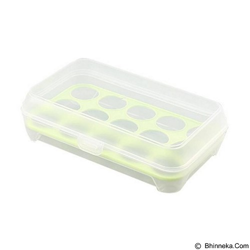MIIBOX Kotak Telur Isi 10 Pcs - Green (Merchant) - Wadah Makanan