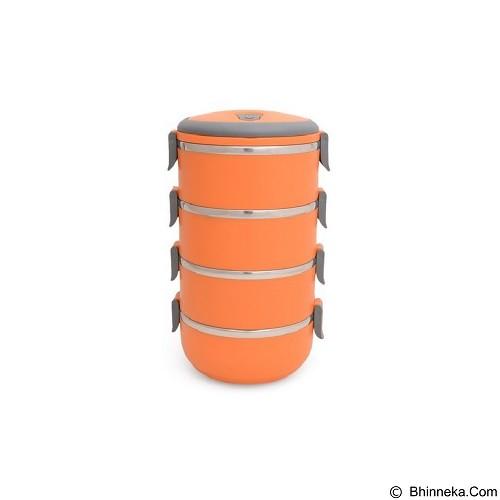 MIIBOX Rantang Stainless Warna 4 Susun - Orange (Merchant) - Lunch Box / Kotak Makan / Rantang