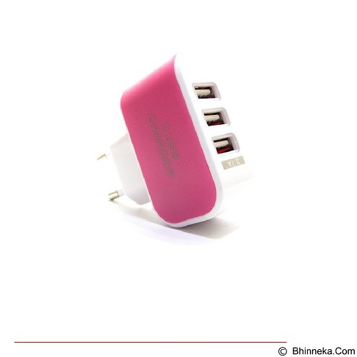 MIIBOX Travel Charger Micro USB Adapter 3.1A with USB LED Mini - Pink (Merchant) - Universal Charger Kit