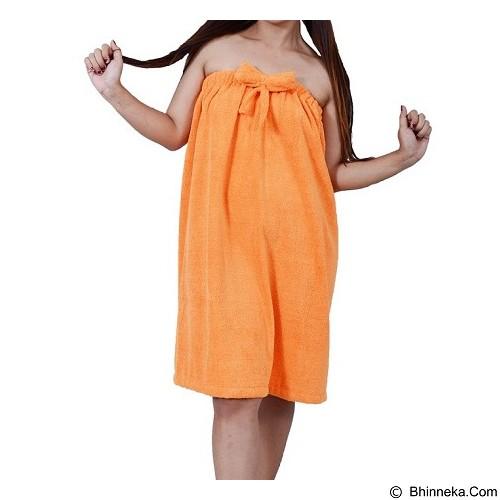 MIPACKO MICROFIBER Handuk Dress Microfiber Pita Bunga L [DPIL 194002] - Orange - Seprai & Handuk