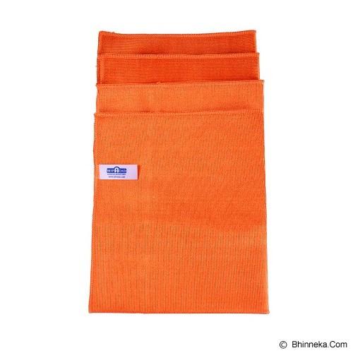 MIPACKO MICROFIBER Microfiber Glass Cloth - Orange - Lap Serbaguna