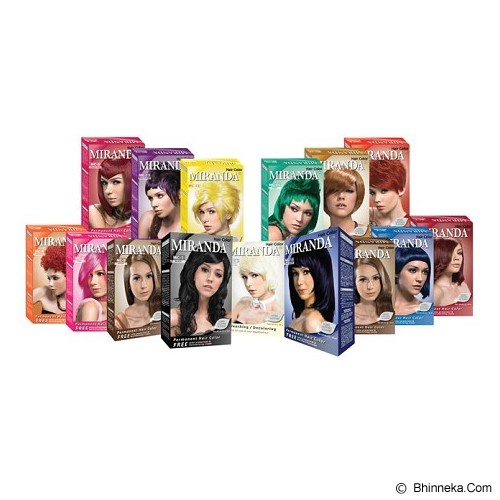 MIRANDA Hair Color 100gr - Blue - Cat Rambut