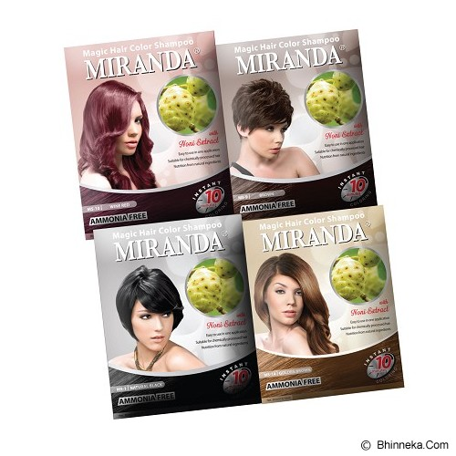 MIRANDA Hair Magic Color 50ml - Wine Red - Cat Rambut