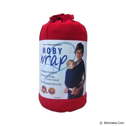 MOBY WRAP Gendongan Bayi - Red - Carrier and Sling
