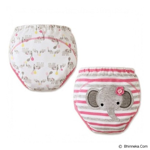MOM AND BAB Training Pants 2 Pack Size 100 [MB-ele-pink] - Pink Elephant - Celana Bepergian/Pesta Bayi dan Anak