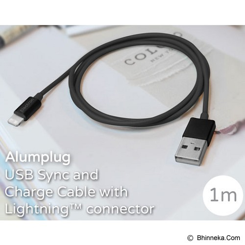 MONOCOZZI Alumplug Lightning Cable 100cm with MFI - Black - Cable / Connector Usb