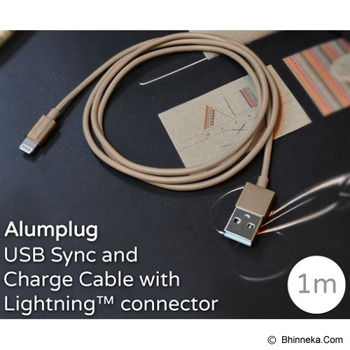 MONOCOZZI Alumplug Lightning Cable 100cm with MFI - Gold - Cable / Connector Usb