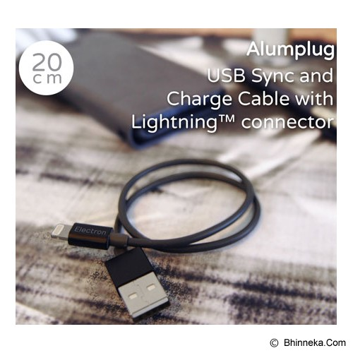 MONOCOZZI Alumplug Lightning Cable 20cm with MFI - Black - Cable / Connector Usb