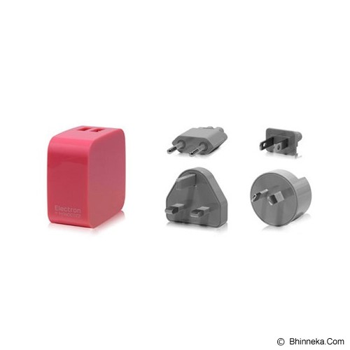 MONOCOZZI Car Charger 4.2A Dual USB International Wall Smighty - Pink - Car Kit / Charger