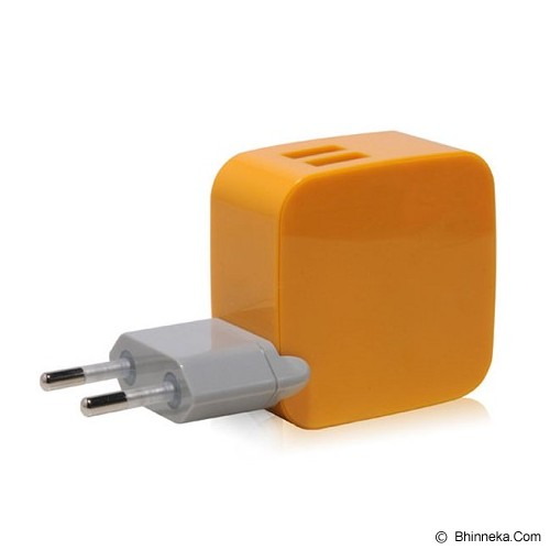 MONOCOZZI Car Charger 4.2A Dual USB International Wall Smighty - Yellow - Car Kit / Charger