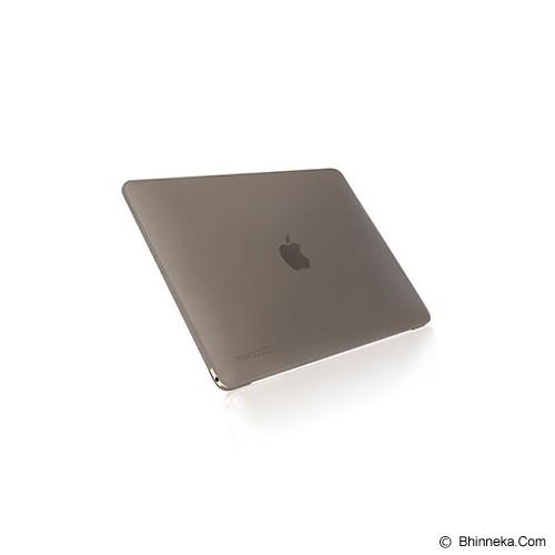 MONOCOZZI Case Macbook 12 inch Lucid Transparant Hard Shell - Black Matte - Notebook Skin