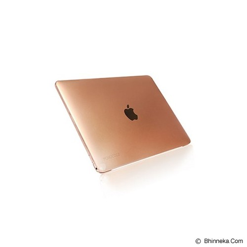 MONOCOZZI Case Macbook 12 inch Lucid Transparant Hard Shell - Champagne - Notebook Skin