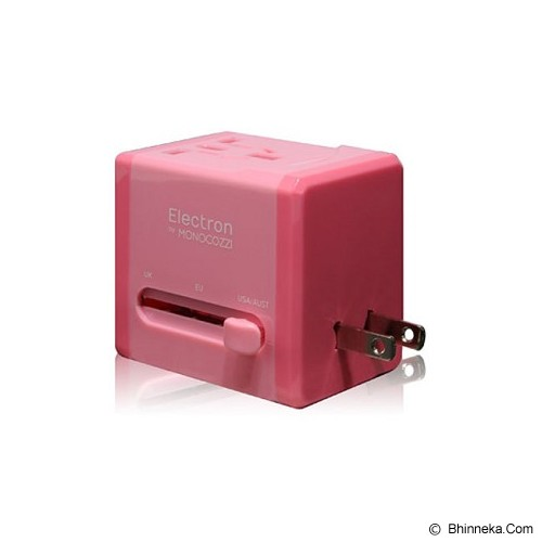 MONOCOZZI Global Adaptor Charger 2.1A Dual USB Smighty - Pink - Charger Handphone