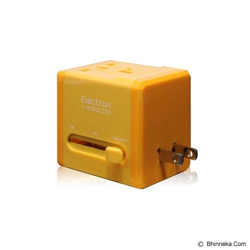 MONOCOZZI Global Adaptor Charger 2.1A Dual USB Smighty - Yellow - Universal Travel Adapter