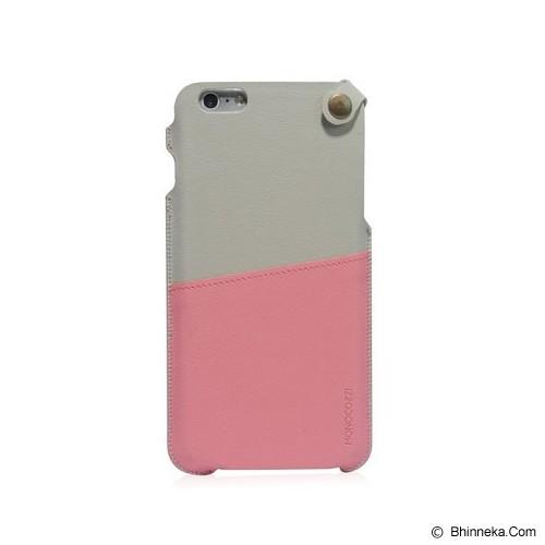 MONOCOZZI Soft Leather Pouch Case iPhone 6 - Cream/Pink - Casing Handphone / Case