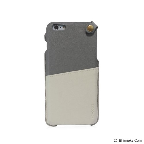 MONOCOZZI Soft Leather Pouch Case iPhone 6 - Grey/Cream - Casing Handphone / Case