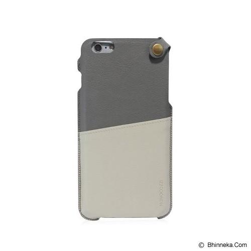 MONOCOZZI Soft Leather Pouch Case iPhone 6 Plus - Grey/Cream - Casing Handphone / Case