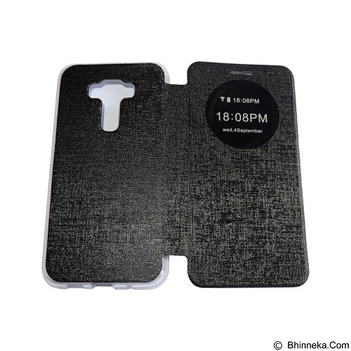 AIMI Flipcover Fitur View for Asus Zenfone 3 ZE520KL - Black (Merchant) - Casing Handphone / Case