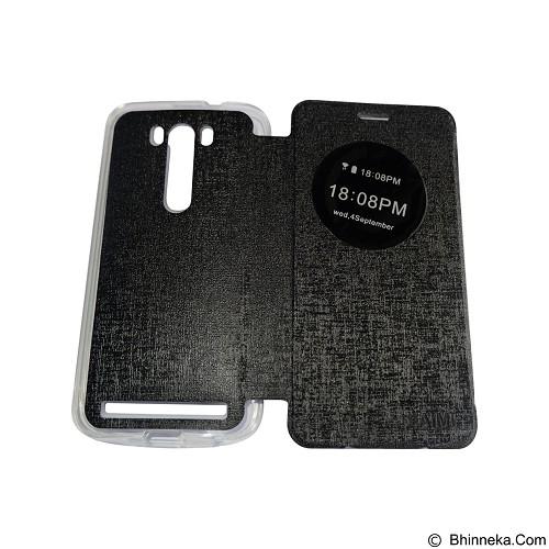 AIMI Flipcover Fitur View for Asus Zenfone 5.0 ZE500KG/ZE500KL - Black (Merchant) - Casing Handphone / Case