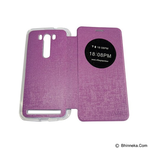 AIMI Flipcover Fitur View for Asus Zenfone 5.0 ZE500KG/ZE500KL - Purple (Merchant) - Casing Handphone / Case