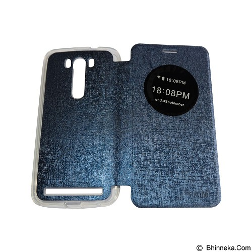 AIMI Flipcover Fitur View for Asus Zenfone 5.5 ZE550KL - Dark Blue (Merchant) - Casing Handphone / Case