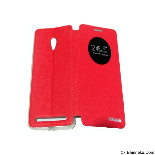 AIMI Flipcover Fitur View for Asus Zenfone 6 AC600CG - Red (Merchant) - Casing Handphone / Case