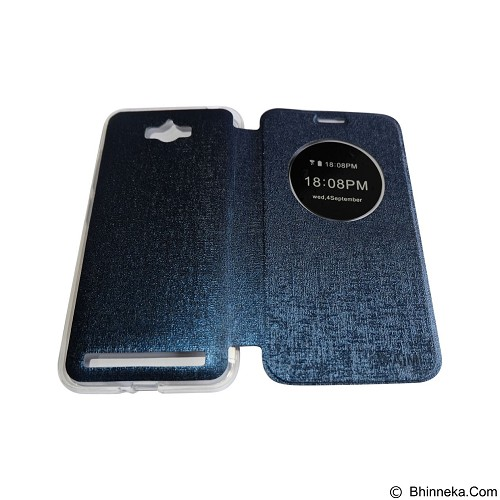 AIMI Flipcover Fitur View for Asus Zenfone Max ZC550KL - Dark Blue (Merchant) - Casing Handphone / Case