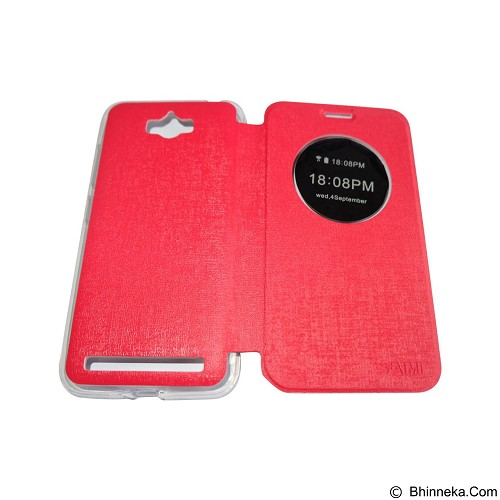 AIMI Flipcover Fitur View for Asus Zenfone Max ZC550KL - Red (Merchant) - Casing Handphone / Case