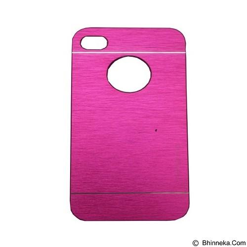 MOTOMO Ino Metal Case iPhone 4G - Pink (Merchant) - Casing Handphone / Case