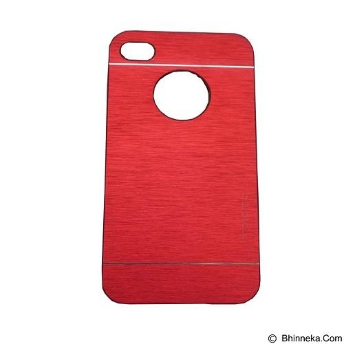 MOTOMO Ino Metal Case iPhone 4G - Red (Merchant) - Casing Handphone / Case