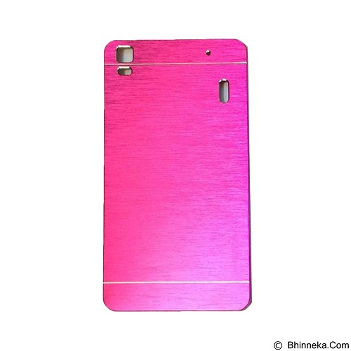 MOTOMO Metal Hardcase for Lenovo K3 Note  -  Pink (Merchant) - Casing Handphone / Case