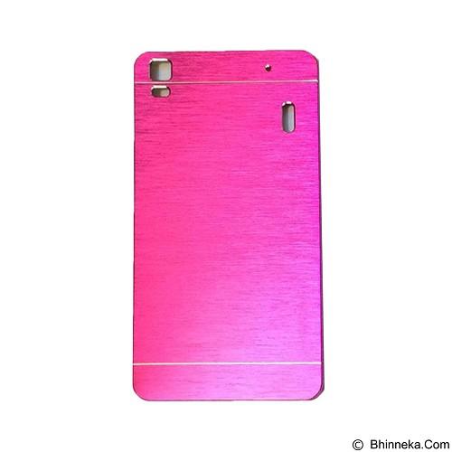 MOTOMO Metal Hardcase for Lenovo K3 Note  -  Pink (Merchant) - Casing Handphone / Case
